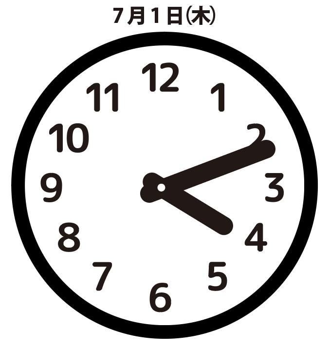 予兆:7月1日(木)16時11分