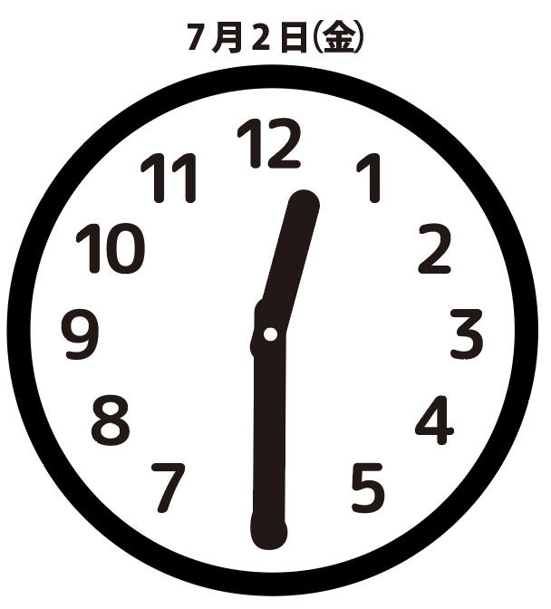 異変:7月2日(金)0時30分