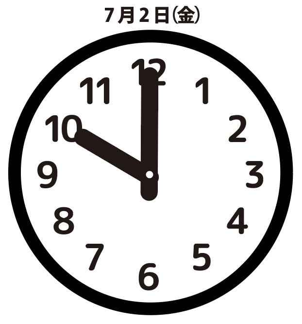 焦燥:7月2日(金)10時00分