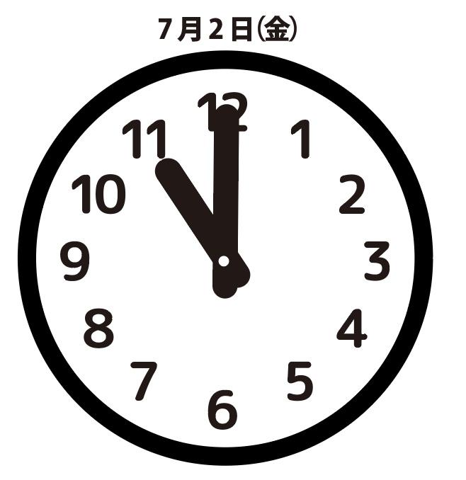 馬鹿:7月2日(金)23時00分