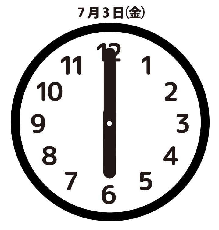 再戦:7月3日(金)6時00分