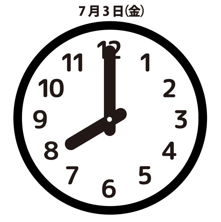 原因:7月3日(金)8時00分