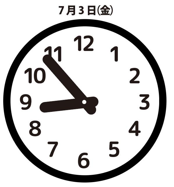 御礼:7月3日(金)8時53分